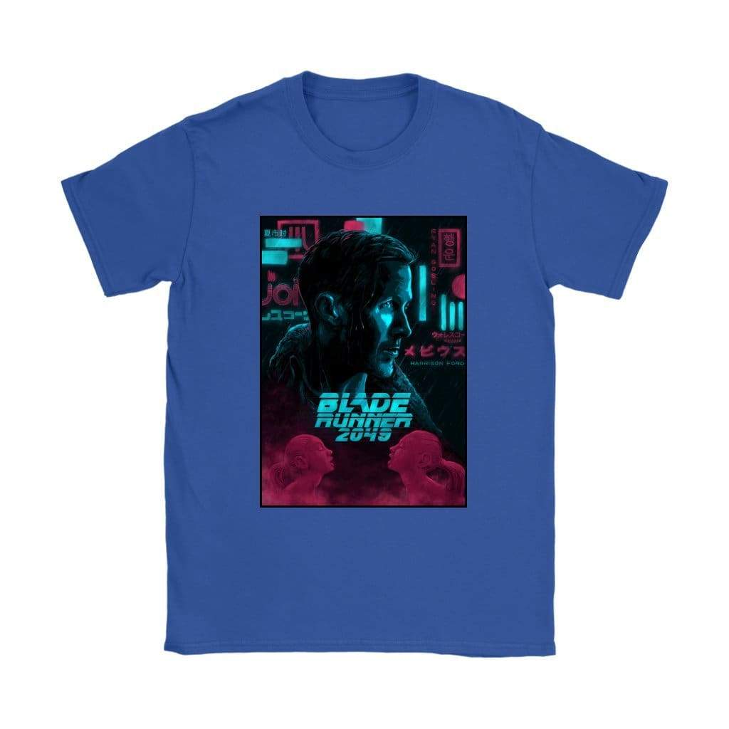 Blade Runner 2049 T-shirt για γυναίκες - Gildan Γυναικεία T-Shirt / Royal Blue / S - T-shirt
