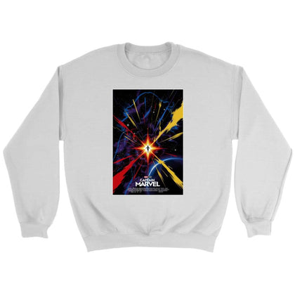 Captain Marvel Sweat - Sweat ras du cou / Blanc / S - T-shirt