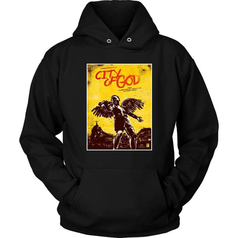 City of God Hoodie - Unisex Hoodie / Black / S - T-shirt