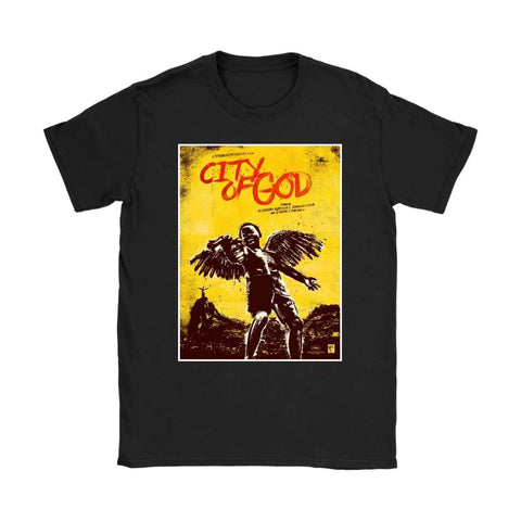 City of God Womens T-shirt - Gildan Womens T-Shirt / Black / S - T-shirt