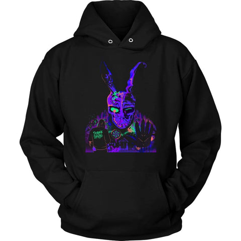 Donnie Darko Blacklight Hoodie - Unisex Hoodie / Black / S - T-shirt