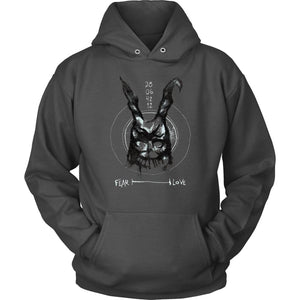 Donnie Darko Fear and Love Hoodie - Unisex Hoodie / Charcoal / S - T-shirt