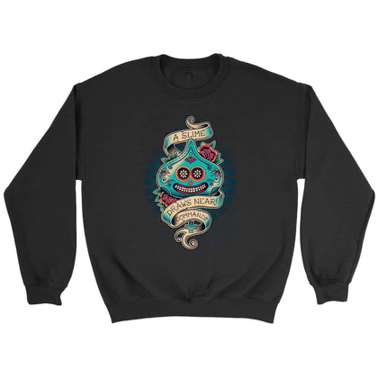 Dragon Quest Sweat Slime - Sweat ras du cou / Noir / S - T-shirt