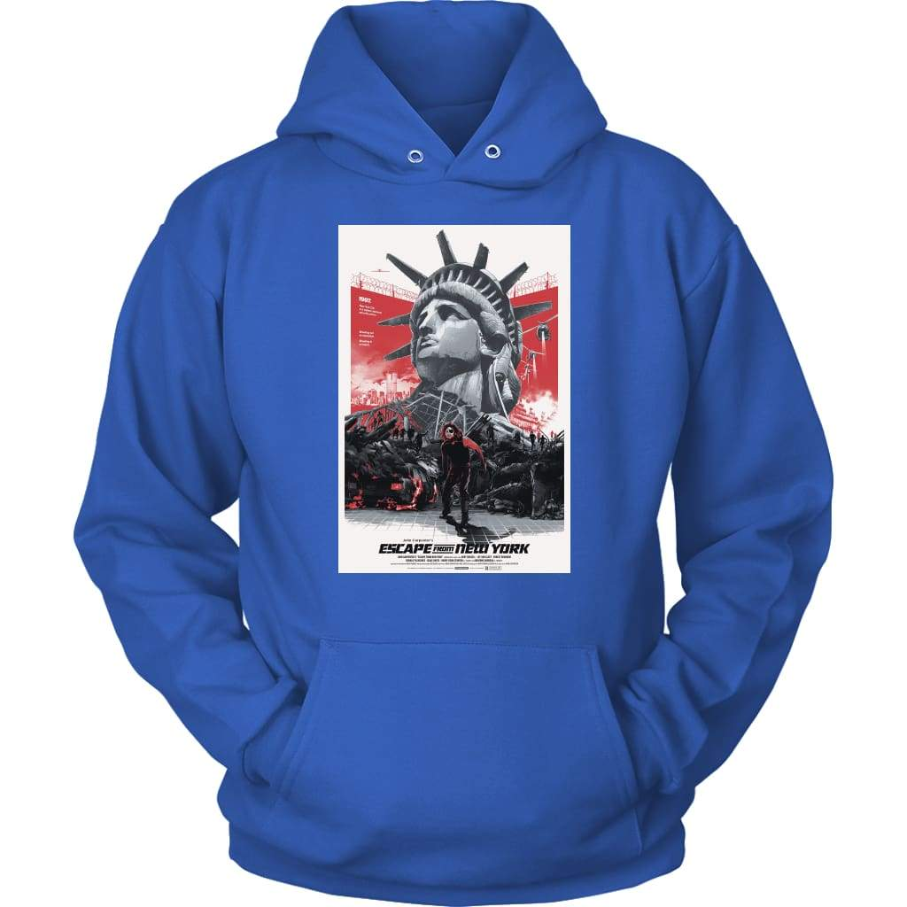 Escape From New York Εναλλακτικό Hoodie - Unisex Hoodie / Royal Blue / S - T-shirt
