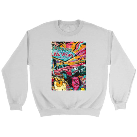 Fear and Loathing in Las Vegas Psychedelic Sweatshirt - Crewneck Sweatshirt / White / S - T-shirt