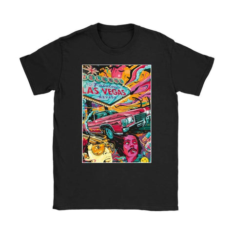 Fear and Loathing in Las Vegas Psychedelic Womens T-shirt - Gildan Womens T-Shirt / Black / S - T-shirt