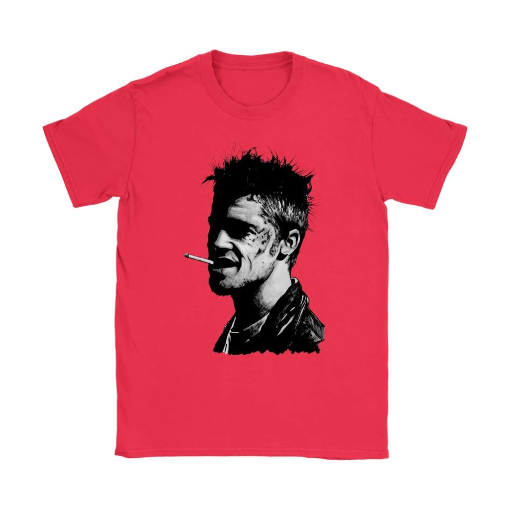 Fight Club Tyler Durden Damen T-Shirt - Gildan Damen T-Shirt / Rot / S - T-Shirt