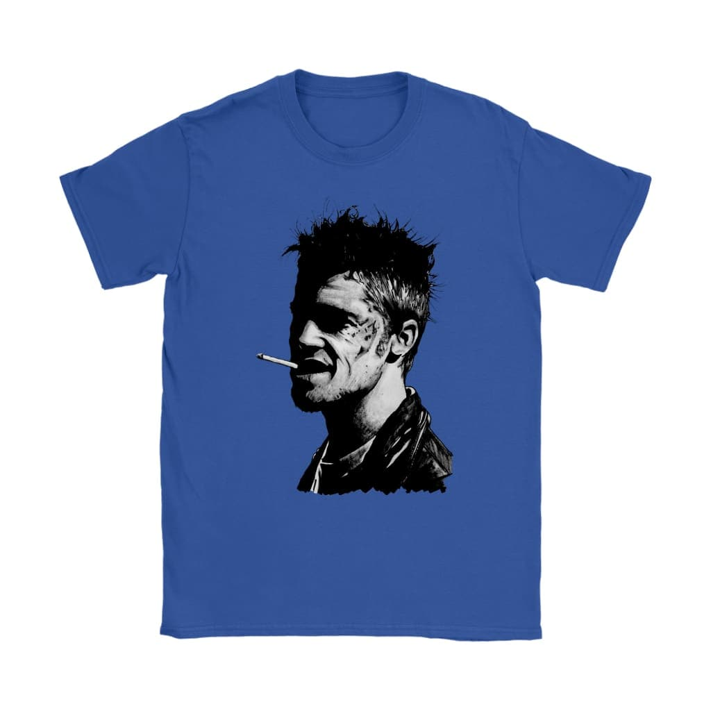 Fight Club Tyler Durden Damen T-Shirt - Gildan Damen T-Shirt / Königsblau / S - T-Shirt