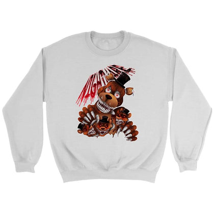 Five Nights at Freddy's Bear Sweatshirt - Sweat ras du cou / Blanc / S - T-shirt