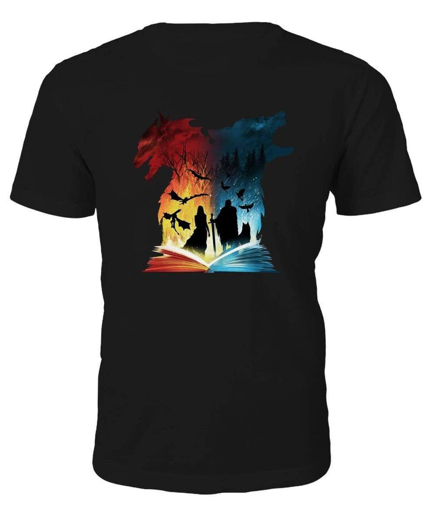 Game of Thrones Wolf vs Dragon T-Shirt - T-Shirt