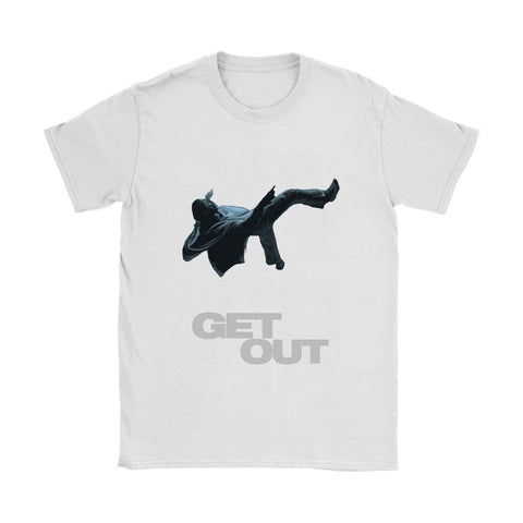 Get Out Womens T-shirt - Gildan Womens T-Shirt / White / S - T-shirt