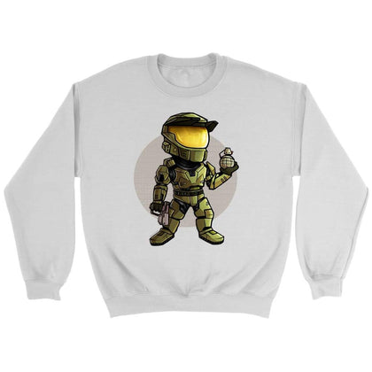 Halo Sweat Master Chief - Sweat ras du cou / Blanc / S - T-shirt