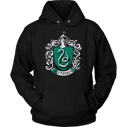Harry Potter Slytherin Hoodie - Sweat à capuche unisexe / Noir / S - T-shirt