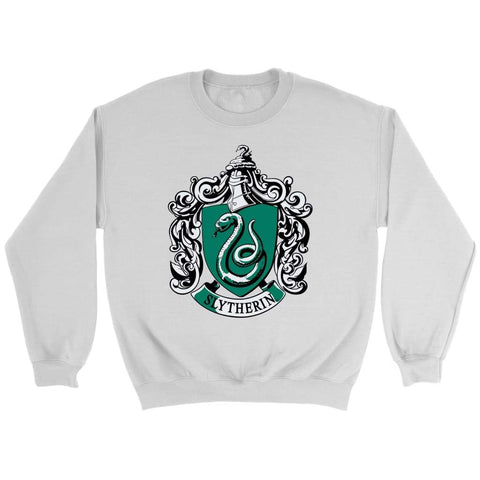 Harry Potter Slytherin sweatshirt - Rundhals-sweatshirt / Weiß / S - T-Shirt