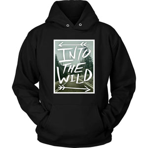 Into the Wild Hoodie - Unisex Hoodie / Black / S - T-shirt