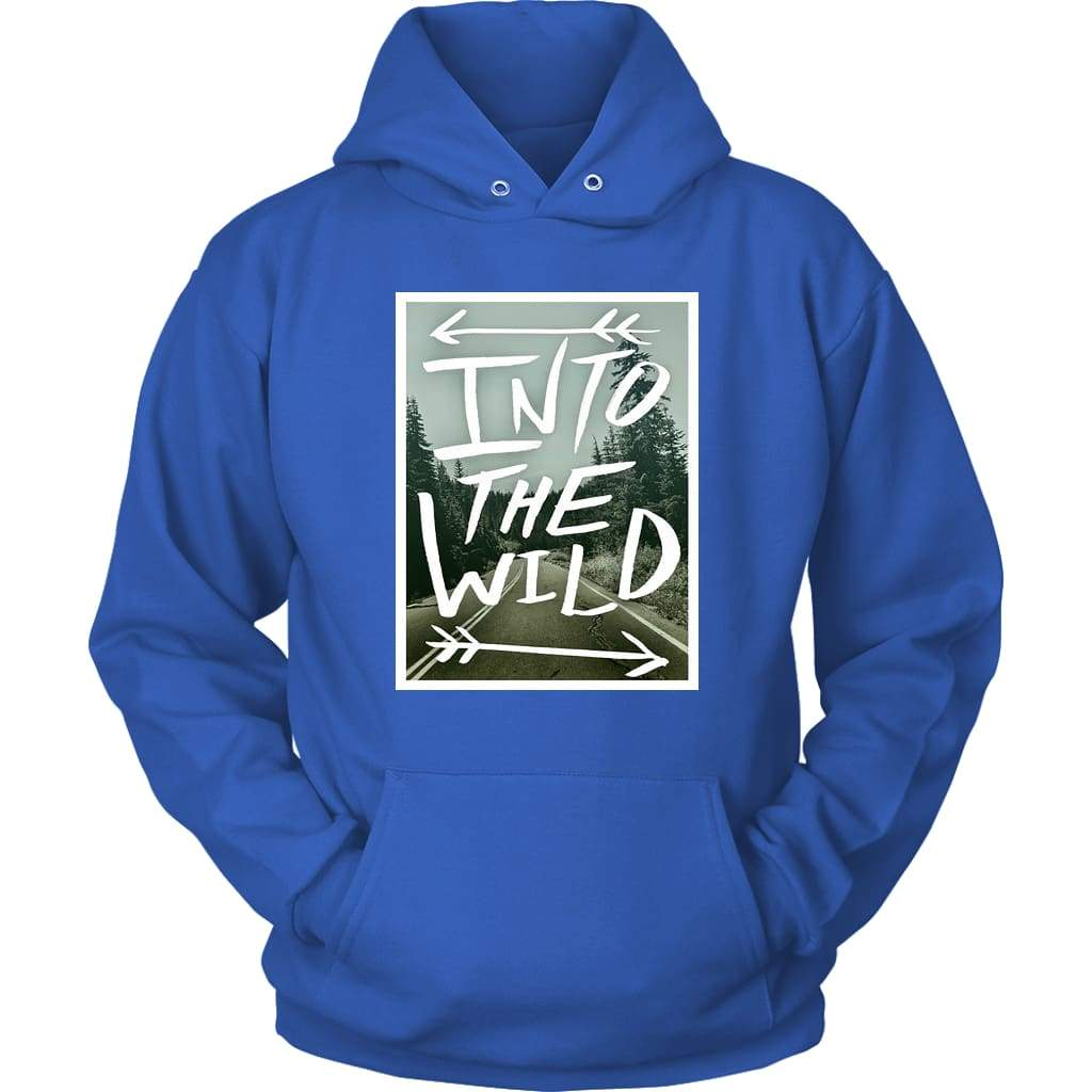 Into the Wild Hoodie - Unisex dukseva / Royal Blue / S - majica
