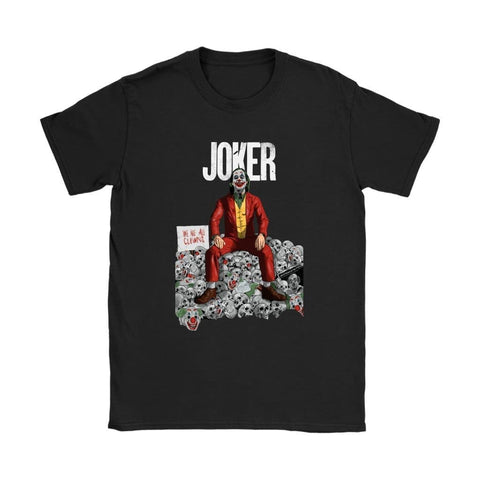 Joker Alternative Womens T-shirt - Gildan Womens T-Shirt / Black / S - T-shirt