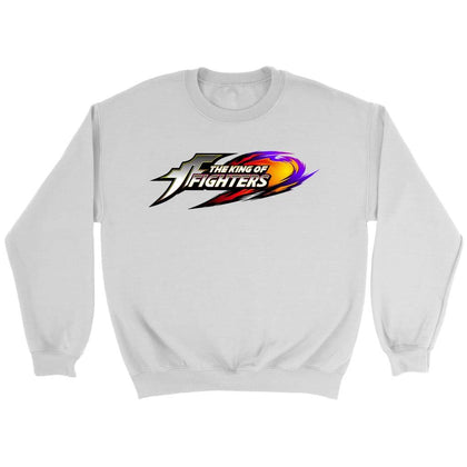 King of Fighters Sweat-shirt à logo - Sweat ras du cou / Blanc / S - T-shirt