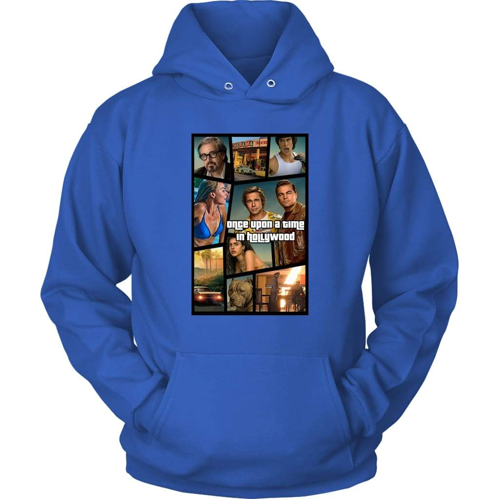 Once Upon a Time in Hollywood GTA Hoodie - Unisex dukseva / Royal Blue / S - majica