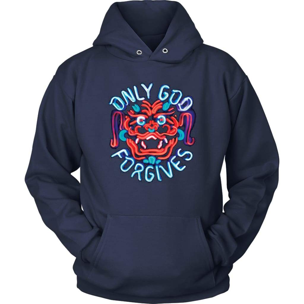 Only God Forgives Hoodie - Unisex Hoodie / Navy / S - T-Shirt