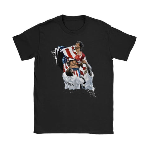 T-shirt Rocky IV Womens - T-shirt Gildan Womens / Μαύρο / S - T-shirt