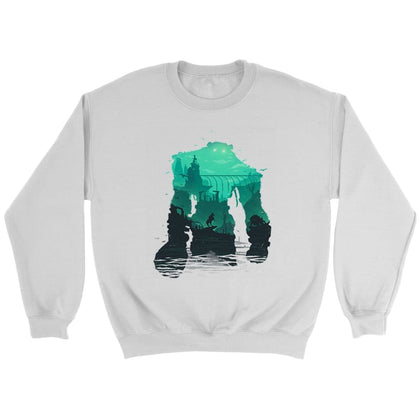 Shadow of the Colossus Jopica - Crewneck jopica / bela / S - majica