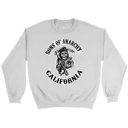 Sons of Anarchy Jopica - Crewneck jopica / bela / S - majica