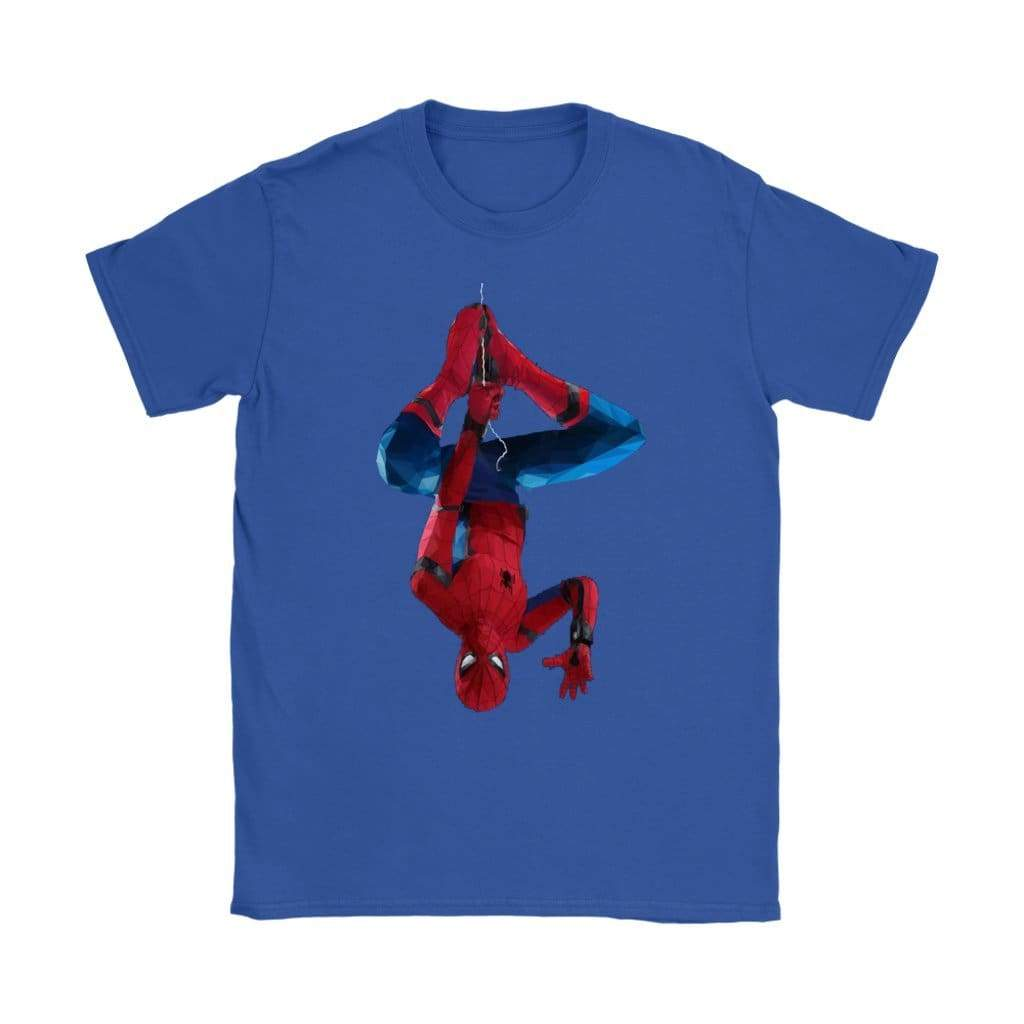 Spiderman Damen T-Shirt - Gildan Damen T-Shirt / Königsblau / S - T-Shirt