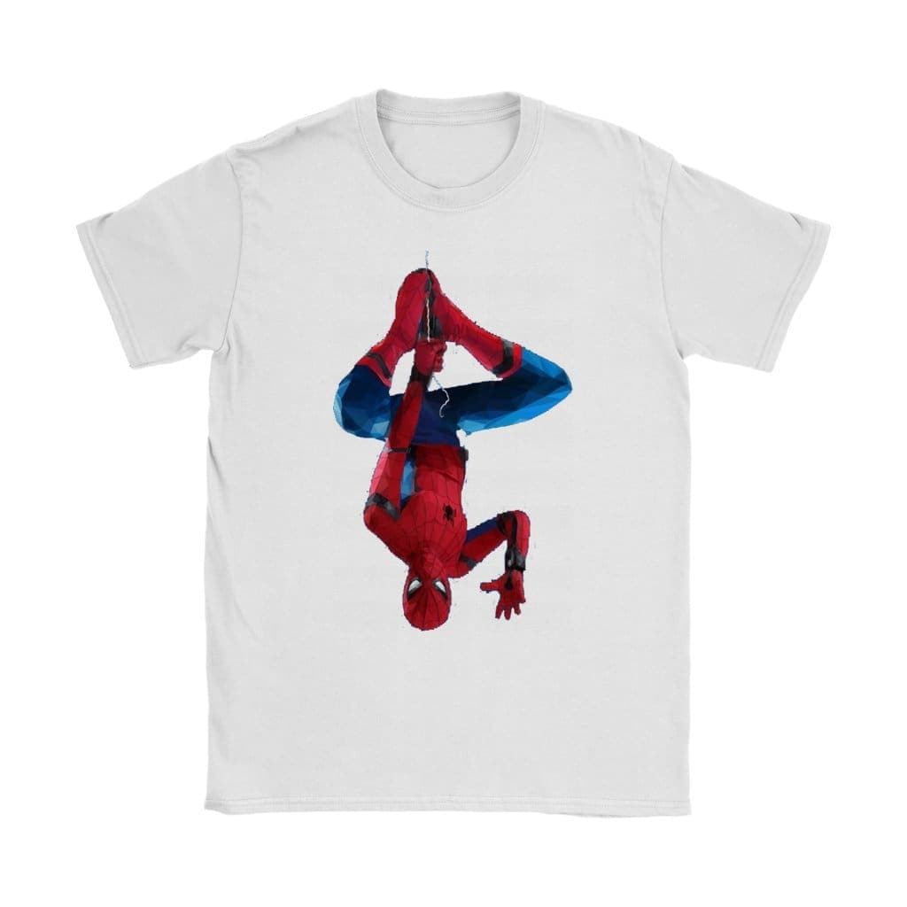 Spiderman Damen T-Shirt - Gildan Damen T-Shirt / Weiß / S - T-Shirt