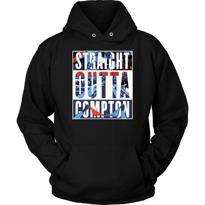 Straight Outta Compton Hoodie - Unisex Hoodie / Black / S - T-shirt