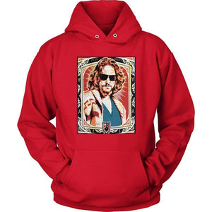 The Big Lebowski Dude Abides Hoodie - Unisex Hoodie / Red / S - T-shirt