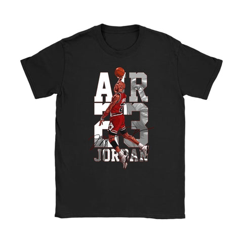 The Last Dance Air Jordan Dames T-shirt - Gildan Dames T-Shirt / Zwart / S - T-shirt