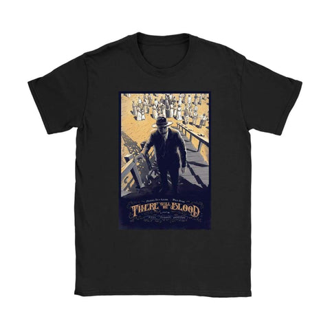 There Will Be Blood Damen T-Shirt - Gildan Damen T-Shirt / Schwarz / S - T-Shirt