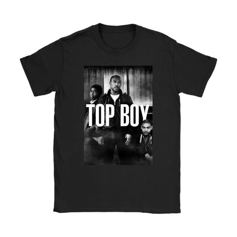 Top Boy Damen T-Shirt - Gildan Damen T-Shirt / Schwarz / S - T-Shirt
