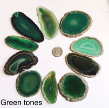 Load image into Gallery viewer, Agate slices, 2-3.5 inch geode slices in various colors, geode slice
