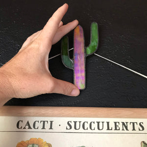 Stained glass cacti suspend.it