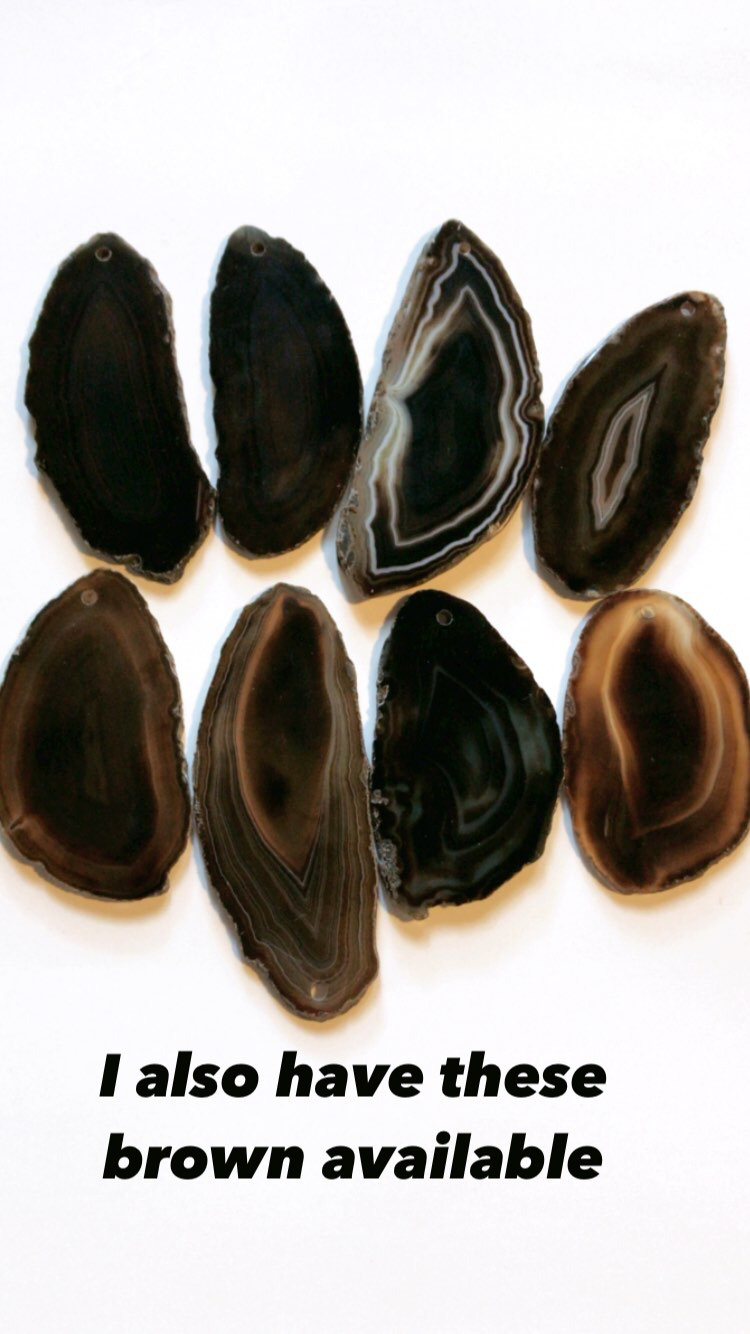 Lot of 8 brown color agates