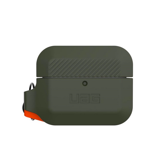 Custodia Cover Case UAG Silicone per Apple AirPods Pro Verde Arancione