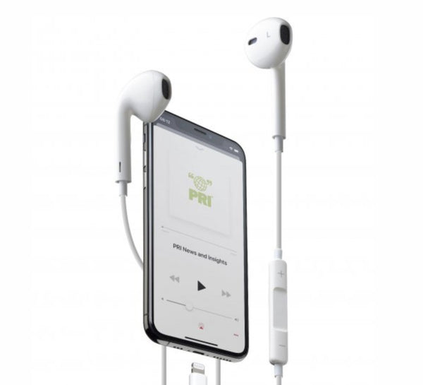 Cellular Line - Auricolare lightning MFI made for Apple White