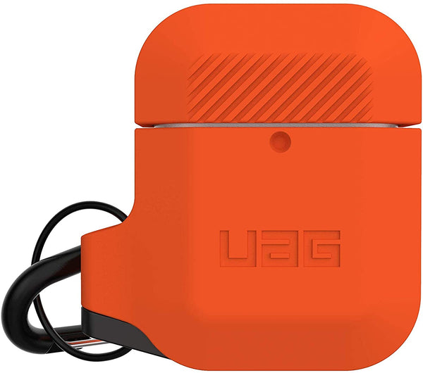 Custodia Cover Case UAG Silicone per Apple AirPods Serie 1 / 2 Arancione Grigio