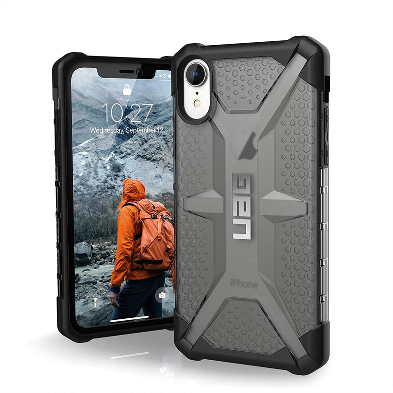 Custodia Cover Case UAG Antiurto Plasma per iPhone XR Grigio