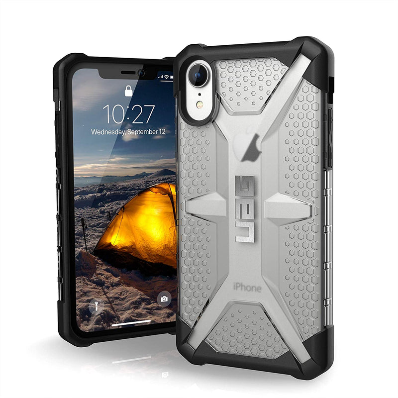 Custodia Cover Case UAG Antiurto Plasma per iPhone XR Trasparente