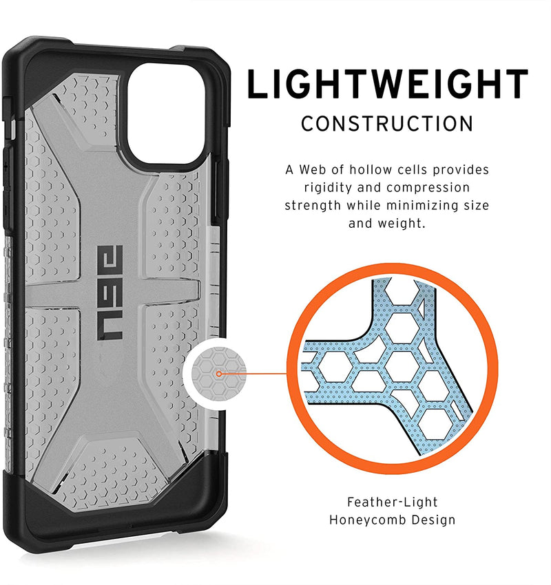 Custodia Cover Case UAG Antiurto Plasma per iPhone 11 Pro Max Grigio/Nero
