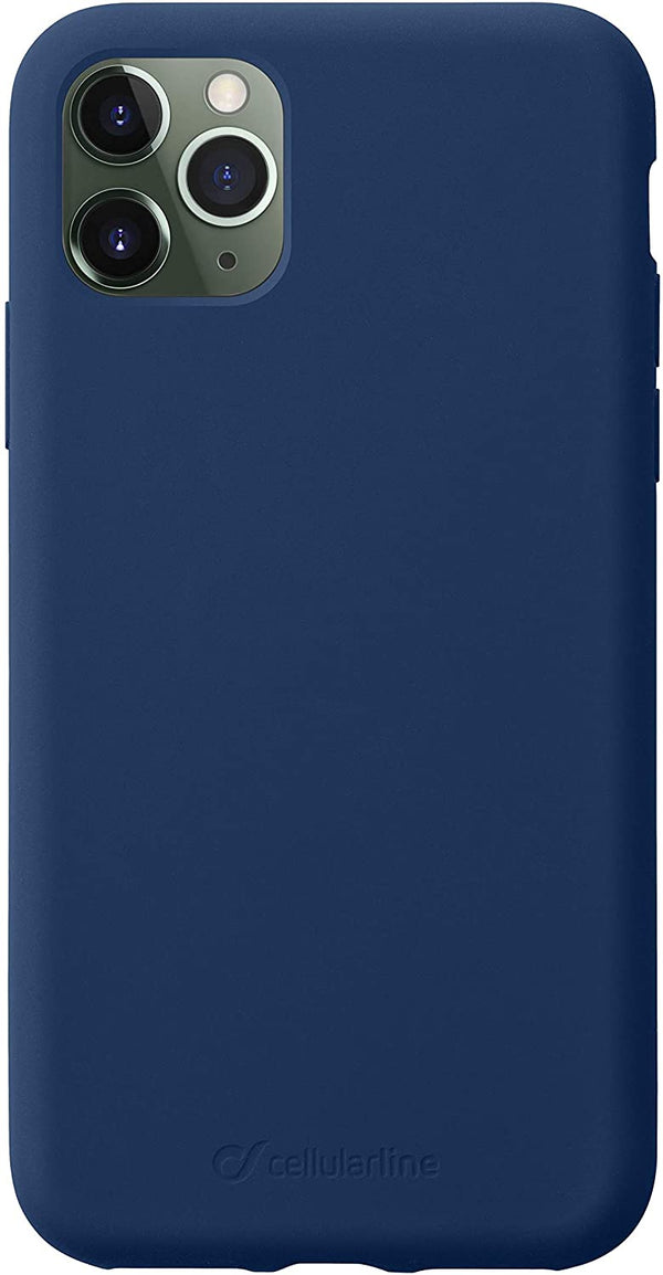 Custodia Cover Case soft silicone vellutino per apple iPhone 11 Pro Blue