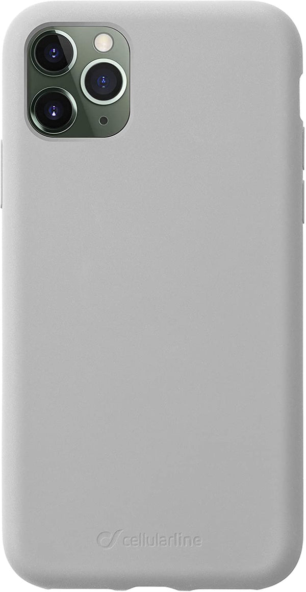 Custodia soft touch silicone interno vellutino per apple iPhone 11 Pro Silver CellulaLine
