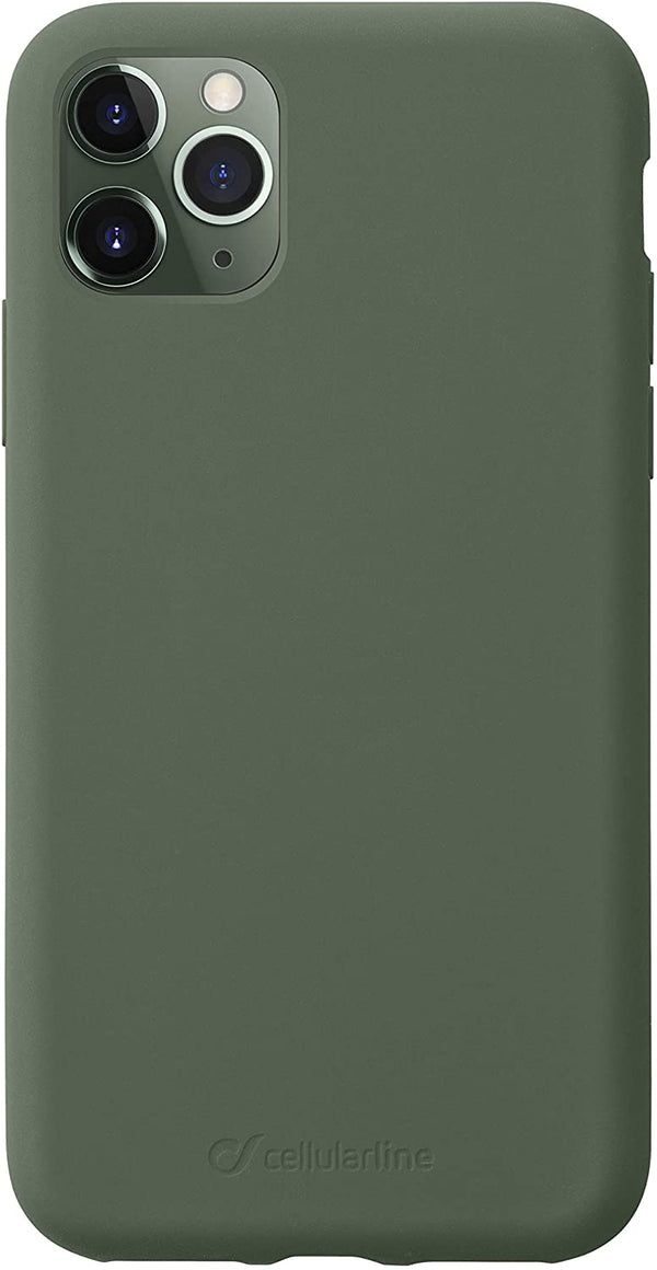 Custodia soft touch silicone interno vellutino per apple iPhone 11 Pro Verde CellulaLine