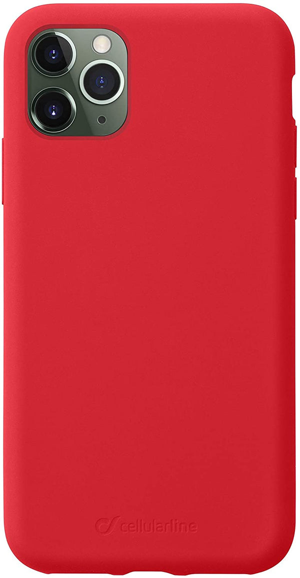 Custodia Cover Case soft silicone vellutino per apple iPhone 11 Pro Max Rossa