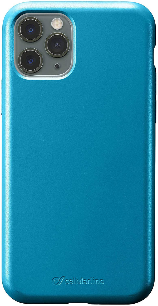 Custodia soft touch silicone interno vellutino per apple iPhone 11 Pro Blue CellulaLine
