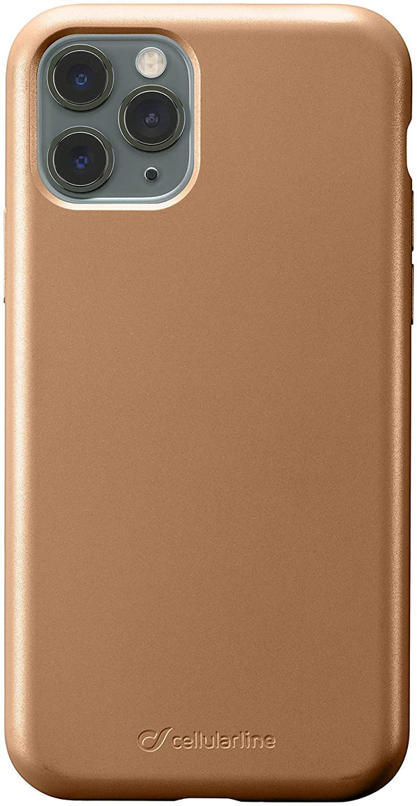 Custodia Cover Case soft silicone vellutino per apple iPhone 11 Pro Bronzo