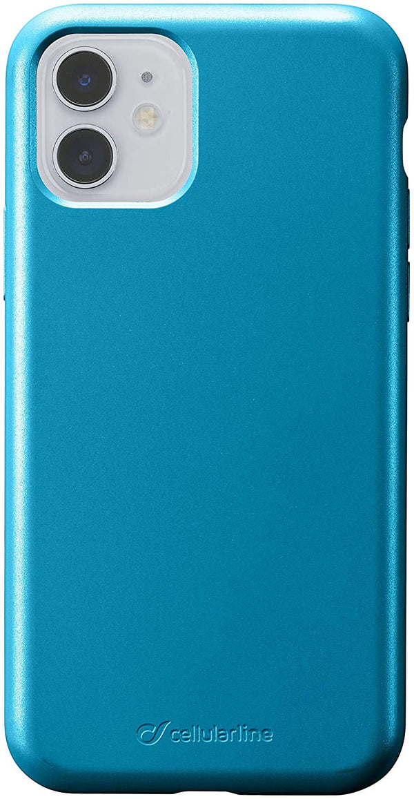 Custodia soft touch silicone interno vellutino per apple iPhone 11 Blue CellulaLine